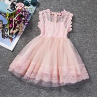 Flower Girl Dress Infant Baby Kid Girl Princess Party Wedding Tutu Lace Dress
