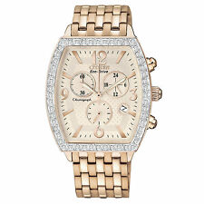 Citizen Eco-Drive Women's FB1273-57A Refurbished Chronograph Crystals 35mm Watch