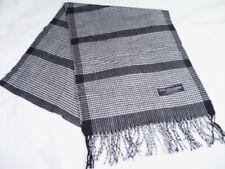 "NEW Womens Scarf 100% Cashmere from Scotland Houndstooth Print Size 74""x12.75"""