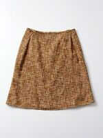 Piazza Sempione linen skirt, woven linen a-line fitted skirt size 8