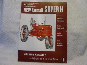 MCCORMICK IH FARMALL SUPER H TRACTOR c 1950 s Sales Brochure   CR-330-C