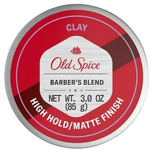 Old Spice Barber's Blend Styling Clay for Men, Aloe Infused, 3 oz