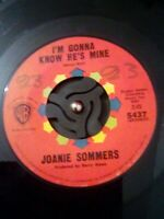 """Joanie Sommers – I'm Gonna Know He's Mine Vinyl 7"""" US Import WB 5437 1964"""
