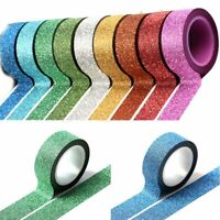 Glitter Self Adhesive Tape Washi Sticker DIY Craft Scrapbooking Paper Tags Decor