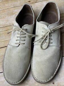 Men's J Crew Shoes Size 10 Cream Suede Leather Lace Up Oxford Made in Italy