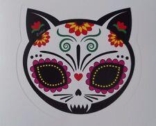 Day Of The Dead Sticker Dia De Los Muertos Gato Cat