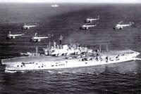 Postcard 1960 Royal Navy Aircraft Carrier HMS Ark Royal 68L