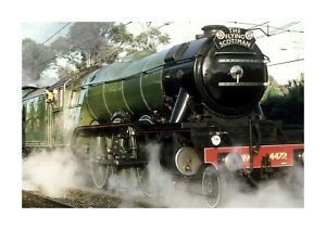 The Flying Scotsman train A4 photograph picture poster with choice of frame