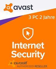 AVAST Internet Security 3 PC 2 Jahre 2018 Vollversion/Upgrade Antivirus avast!