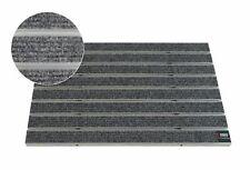 EMCO Eingangsmatte Large Rips grau 12mm Fußmatte Schmutzfangmatte Fußabtreter