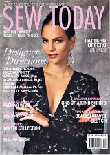 SEW TODAY Magazine DECEMBER 2015 Features Vogue Kwik Sew Butterick McCall's VGC