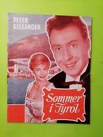 "Danish Film Program ""Im weissen Rössl"" Peter Alexander.Waltraut Haas."