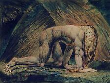 William Blake Nabucodonosor Tate Colección Antiguo Arte Pintura Lienzo Arte Impresión