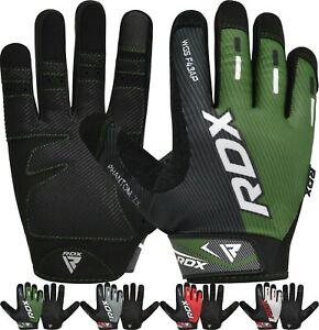 RDX Weight Lifting Gloves Fitness Workout Gym Training Full Finger Grip Cycling