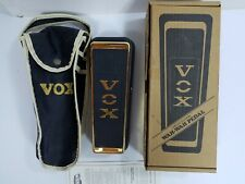 """Vintage Vox Limited Edition V847G Wah-wah pedal in box w/original case """"Rare"""""""