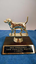 BEAGLE/DOG COMPETITION / RABBIT HUNT TROPHY AWARD FIRST PLACE-FREE ENGRAVING!!!