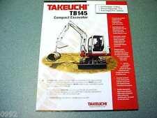 Takeuchi TB145 Compact Excavator Brochure