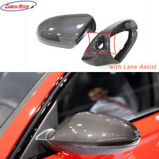 Carbon Fiber Rear View Mirror Cover for Audi A6 C7 S6 RS6 with Lane Assist 2012+