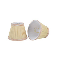5 In. X 4 In. Ivory Pleated Empire Lamp Shade (2-Pack)