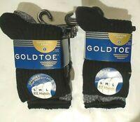Gold Toe Boys' Cotton Crew Socks  6 Pairs  Small  Style 713  Black/Gray