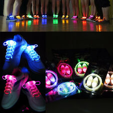 5 Pairs LED Waterproof Light Up Shoe Laces Luminous Night Glowing Shoe Strings