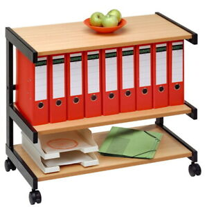 Bürowagen Buche Aktenwagen Rollcontainer Büromöbel Aktenregal