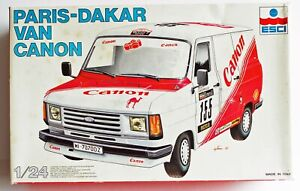 ESCI Ford TRANSIT Paris Dakar Canon Rally Barge Plastic Kit Nice