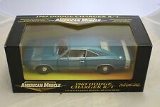 1969 Dodge Charger R/T Metallic Blue from year 2000 new old stock1-18ERTL#32261