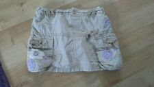 Ref b175 skirt 6-9mth stone colour embroidered flowers adjustable waist