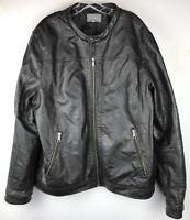 DENVER HAYES Men's Black FAUX LEATHER Jacket Size L
