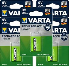 5 x Varta 9V Block 56722 Akku 6HR61 8,4 V NiMH 200mAh im Blister Ready To Use