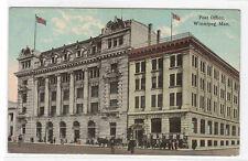 Post Office Winnipeg Manitoba Canada 1910c postcard