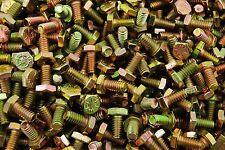 (500) Hex Head 1/4-20 x 1/2 Grade 8 Bolts Yellow Zinc Cap Screws