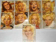 MONTSERRAT 1995 915-23 860a-i Marily Monroe Actress Schauspielerin Kino MNH