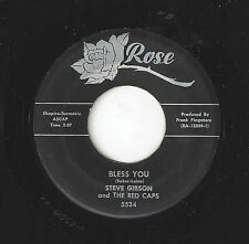 ♫STEVE GIBSON/RED CAPS Bless You/I Miss You So Rose 5534 R&B DOO WOP 45RPM♫