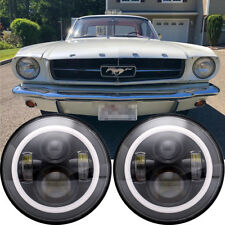 """For Ford Mustang 1965-1973 7"""" INCH Upgrade LED H4 H13 Hi/Lo Beam Headlight Qty 2"""