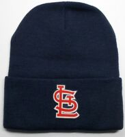 READ LISTING! St. Louis Cardinals HEAT Applied Flat Logo on Beanie Knit Cap hat