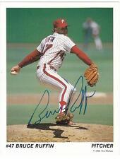 BRUCE RUFFIN Autographed Signed 1988 Tastykake Postcard Philadelphia Phillies
