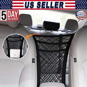 Auto Car Seat Net Pocket Handbag Holder Organizer Side Storage Mesh Net Bag