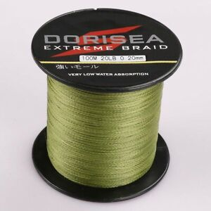 Dorisea 100M/109Yards 20lbs 0.20mm Extreme Army Green Braided Fishing Line