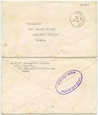 Canada Esercito all'estero BRAILLE (?) BUSTA 1942 OPC THC2 TIMBRO POSTALE 12th FD BTY HS