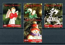 Gambia 2016 MNH Merry Christmas 4v Set Decorations Ornaments Stamps