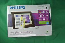 "Philips Digital 7"" Photo Frame LCD Panel Mahogany Wood Frame SPF3472/G7"