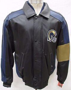 Los Angeles Rams NFL Men Medium Full-Zip Authentic Leather Jacke