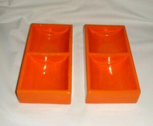 Vintage Retro Orange Opened Cigarette Tray Bitossi Italy /Office Stationery