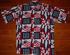 Fubu Limited Edition America Patriotic July 4th Merica Flag Shirt Boys L Mens S