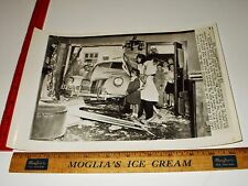Rare Historical Original VTG Teen Joe Capuleto Wrecks Car Bessie Peterson Photo