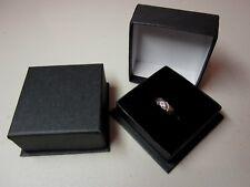 JOB LOT 100 x Square Black Jewellery Gift Ring Box-ASD1-Budget-Quality 29p Each