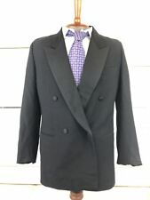 Gianfranco Ferre Barneys Mens Suit Jacket Coat 50 R Black Wool double breasted