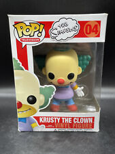 Funko Pop! Television Krusty The Clown #04 Vaulted Figure With Hard Stack!